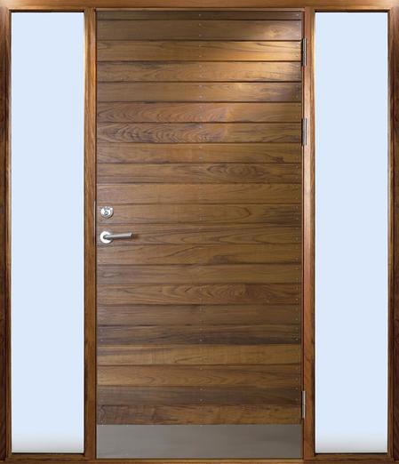 Exterior Doors Entrances Långö Teak With Two Built In Gl Sections Bovalls Dörrbyggeri