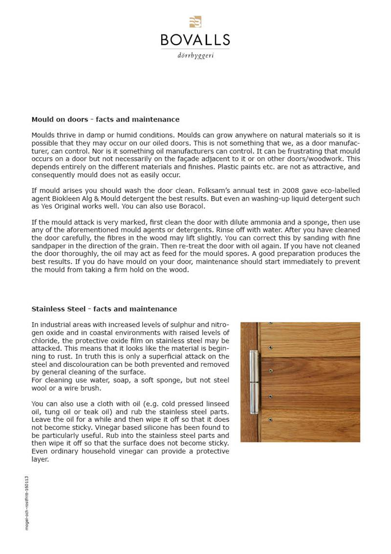 bovalls_maintenance-installation_fact-sheet-mould_on_doors-stainless_steel