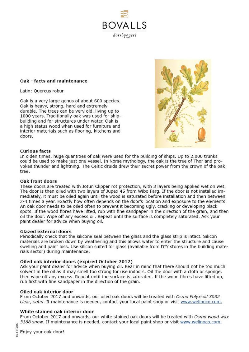 bovalls_maintenance-installation_fact-sheet-oak