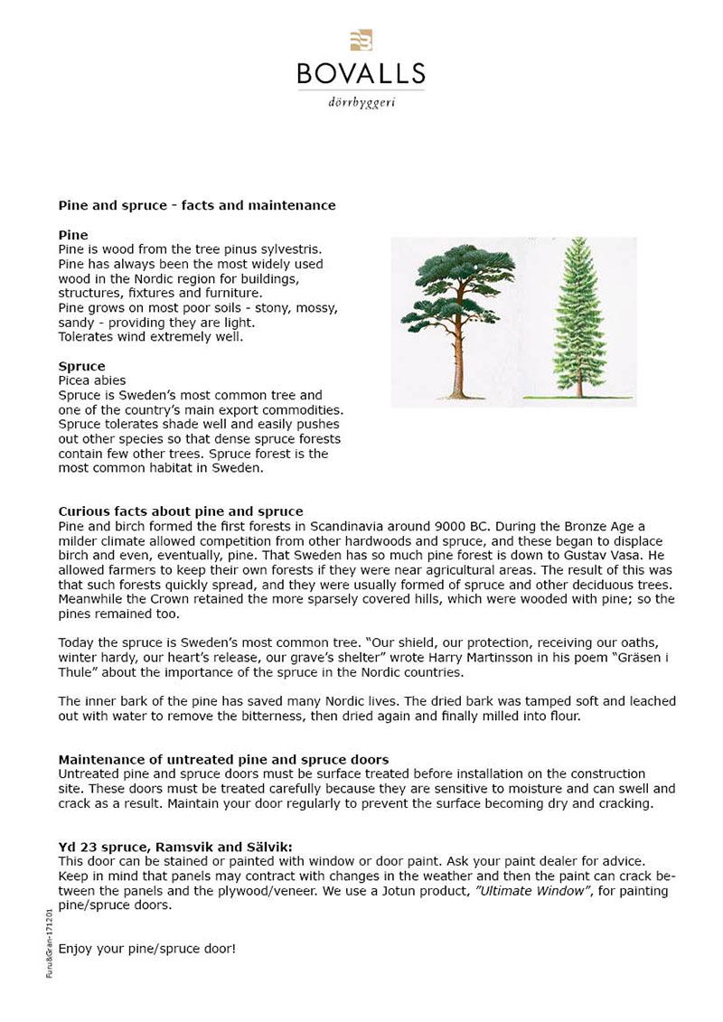 bovalls_maintenance-installation_fact-sheet-pine-spruce